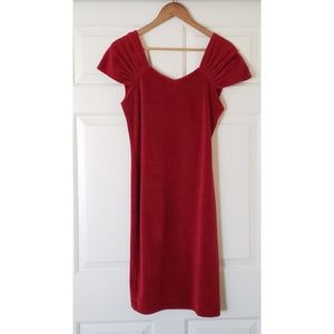 NEW Swedish red velvet dress